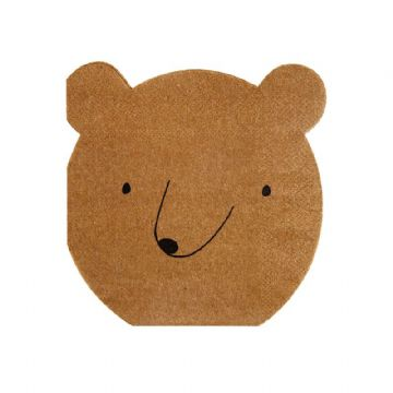 Let's Explore Bear Shaped Paper Napkins - pack of 20